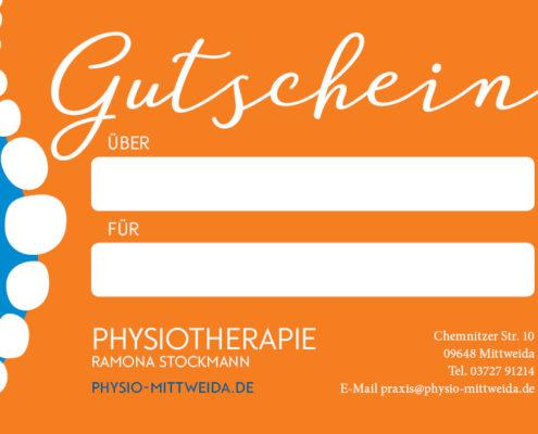 Gutscheinkarte Praxis für Physiotherapie Mittweida, Ramona Stockmann